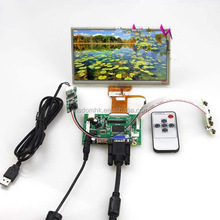HDMI input LCD controller board VS-TY50-V2+7inch 800x480 AT070TN90 lcd panel+Remote control