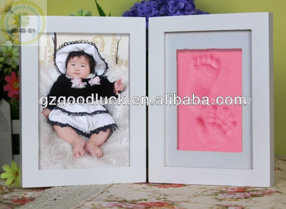 Baby 3d modelo de kit de huella de la mano y la huella recuerdo para ...