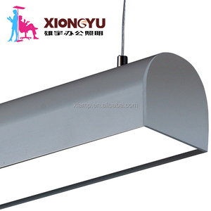 LED suspended office light with louvre