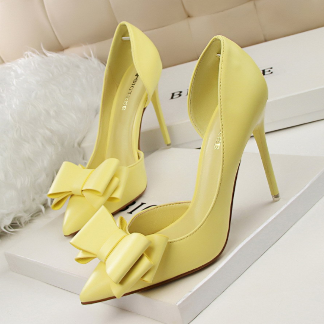 c11177a elegant bowknot women ladies high heel dinner dress shoes
