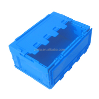 Solid type plastic storage box collapsible plastic transport container