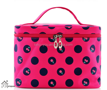 fashion nylon cosmetic bag promotional with cherry pictures