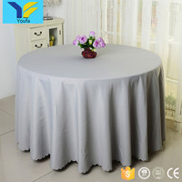 Factory Wholesale hotel restaurant banquet party tablecloth cheap 100% polyester wedding table cover round table cloth