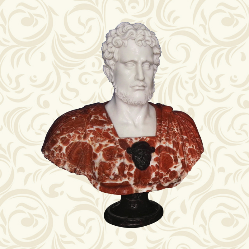 Famous Male Marble Sculpture Bust Statue for home decoration