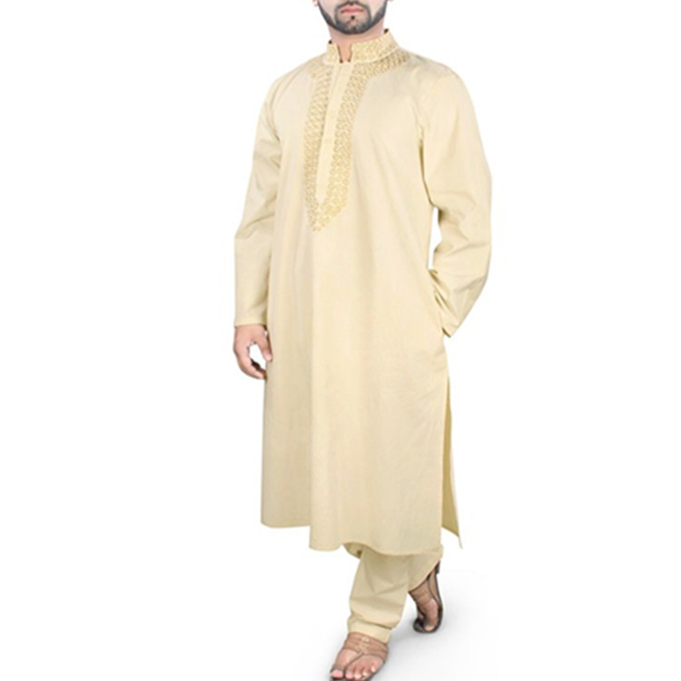 Islamic Long Sleeves Thobe New Latest Kadar Men Jubbah Men abaya in Dubai