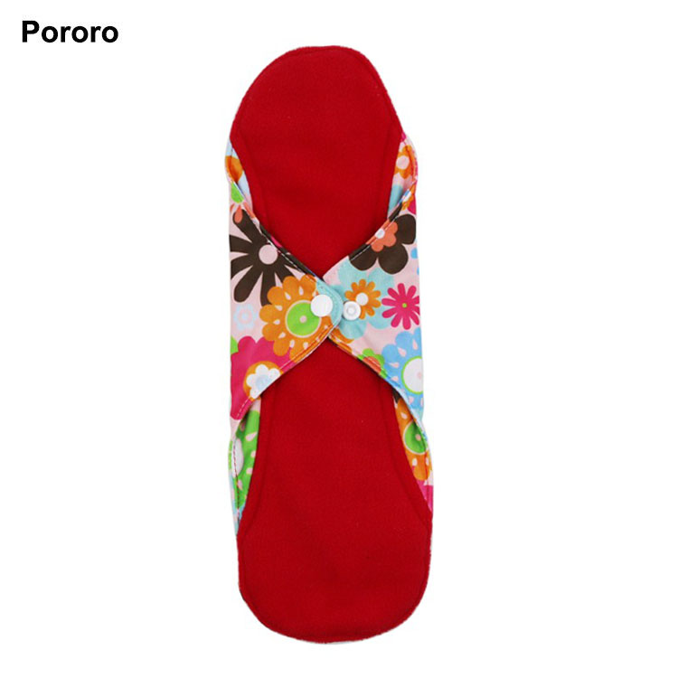 Babyshow Printing Cloth Menstrual Pads 2 Layer Microfiber Inner Polar Fleece Reusable Cloth Sanitary Pads Cloth Tampon 23*32cm
