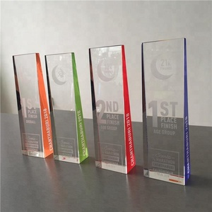 marathon crystal trophy award With custom words engraved for souvenir gift