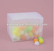 guangzhou small clear frosted PP plastic food packaging boxes