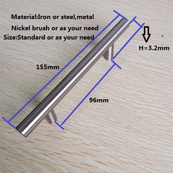 Metall Nickel Gebürstet Küche Griffe,Küchenschrank Griffe - Buy ...