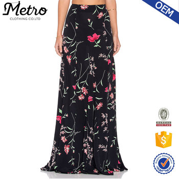 553251c75 Designs Elegant Long Skirt Flower Printed Sub Poly Sample Customized ...