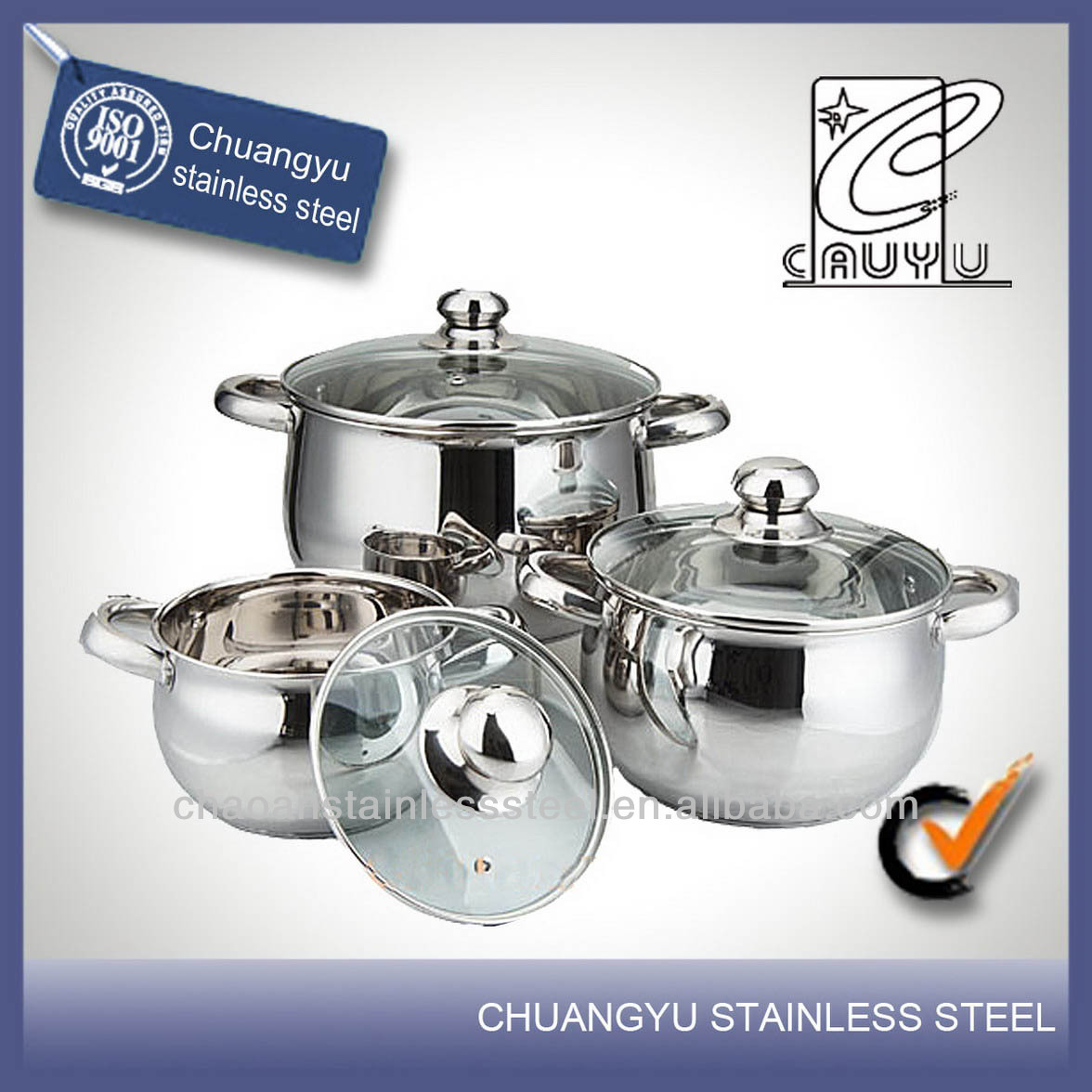 Stainless Steel Kitchen Queen Cookware Set, Stainless Steel ...