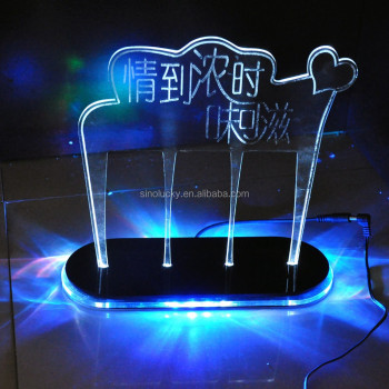 Acrylic Light Box Display Stand Led Advertising Wine Solar Rotating
