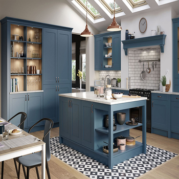 Modern Design Navy Blue Mdf Shaker Kitchen Cabinets Used In Kitchen Cabinet Buy Design Kitchen