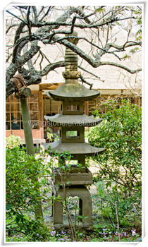 Pagoda Like Stone Garden Lantern For Sale