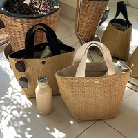 2019 new seaside summer beach vacation summer garden wind woven bag portable straw women's bag