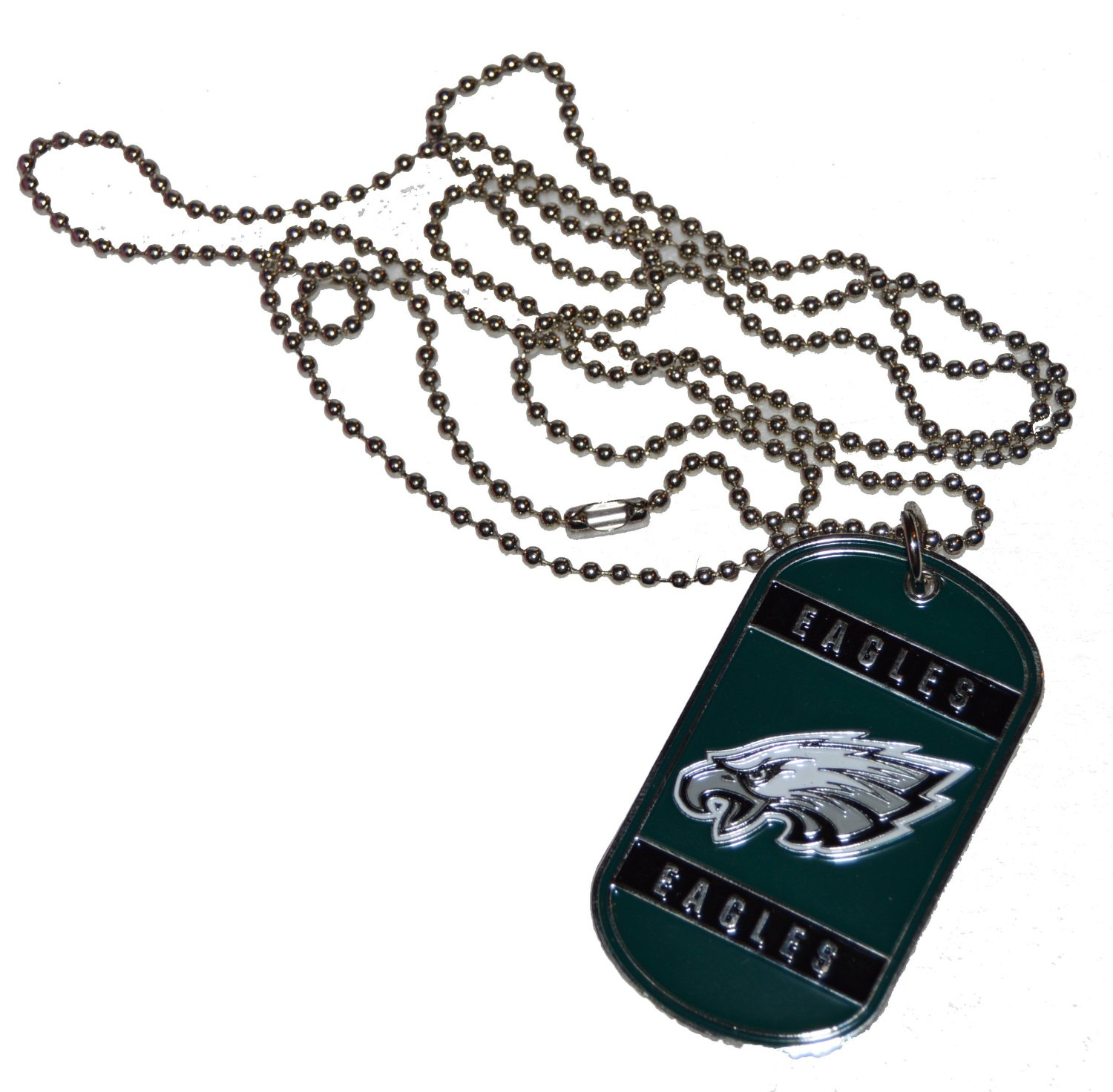 detailed pictures 20917 09aae Buy Philadelphia Eagles Dog Tag Necklace With Swarovski ...