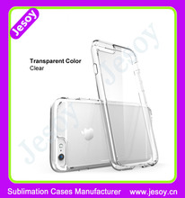 JESOY Blank Clear Plastic Mobile Phone Case with Groove for adding Leather For iPhone 6 Cover Case