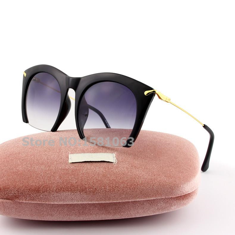 2015 summer style Brand New Smu 14ns Fancy Charm Cat Eye Metal Designer Polarized Sunglasses Retro Women Luxury Gift Oculos