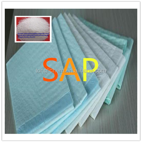 pads and medical changing mat used super absorbent polymer