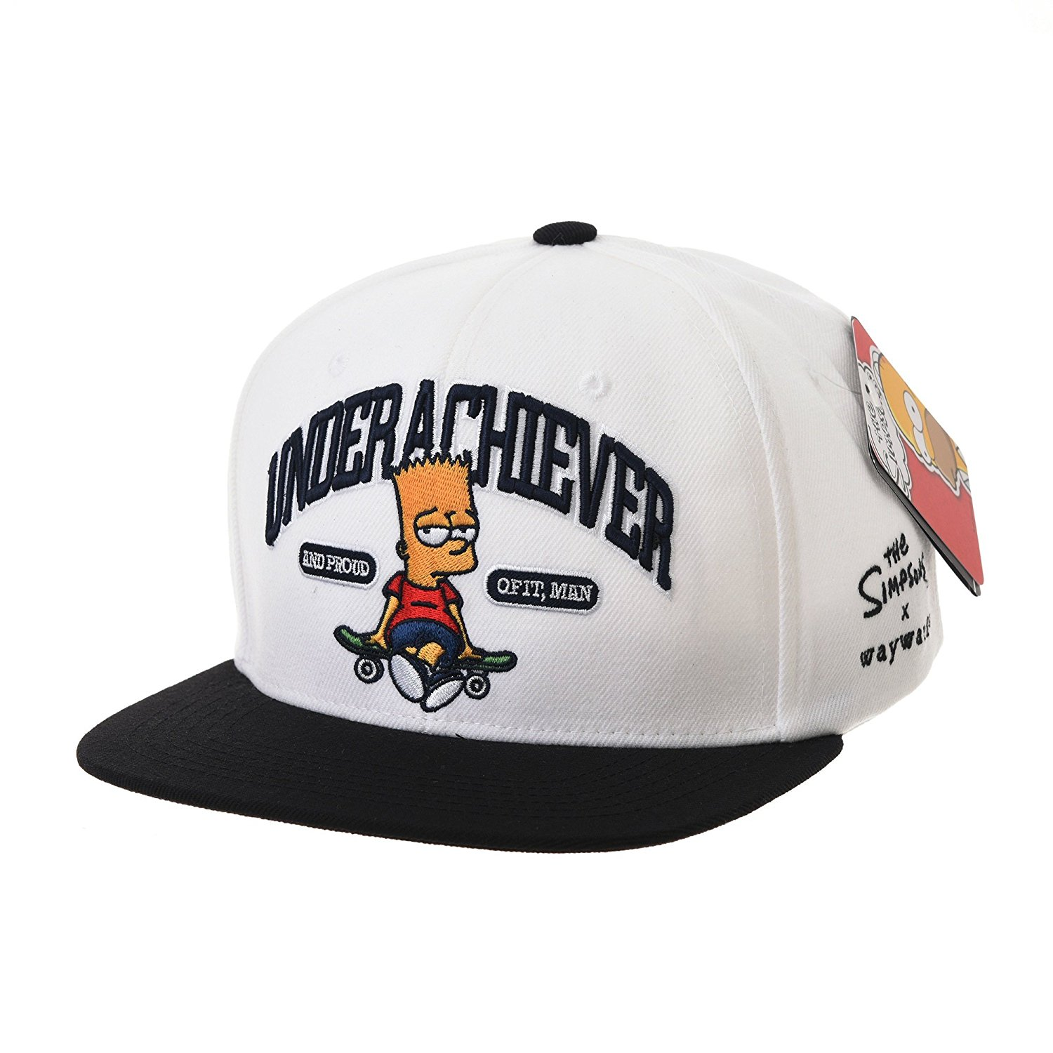 ef646b2852f Get Quotations · WITHMOONS Simpsons Ball Cap Bart Skateboard Snapback HL2755