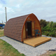 Prefab log cabin camping pods