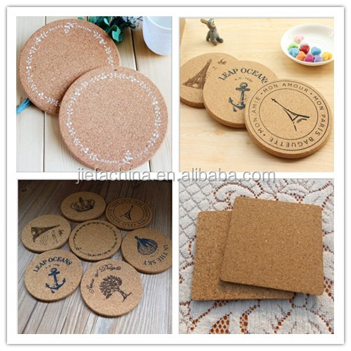 Eco Table Placemat Decor custom printing paper cork coaster for World Cup