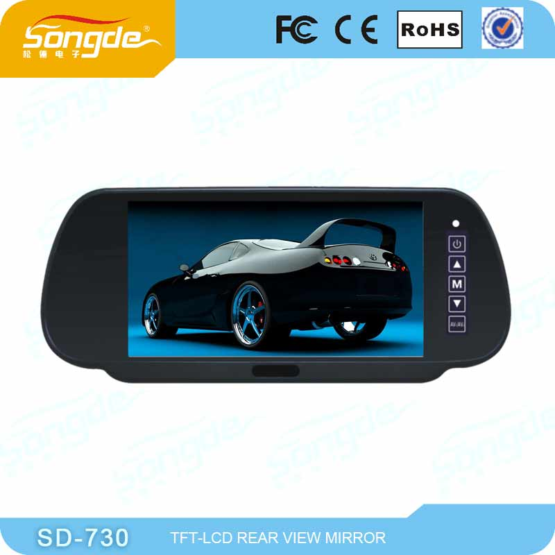 2014 the latest 7 inch LCD smart car bluetooth mirror for sale