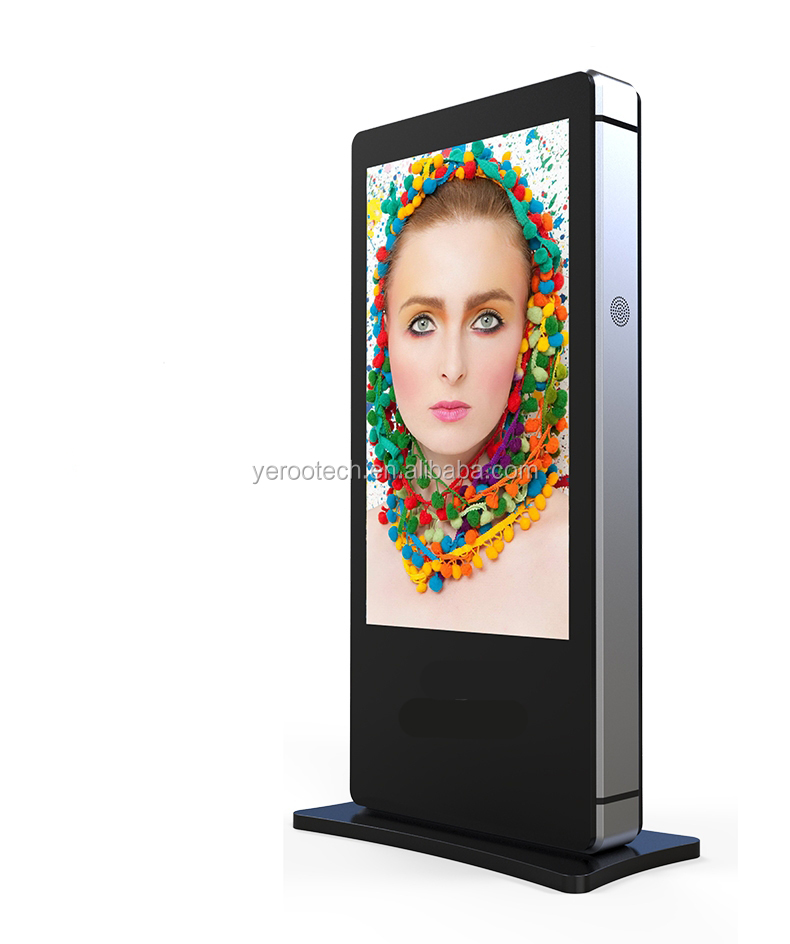 Ip65 Design 75 inch Free Standing Alone Touch Screen outdoor LCD advertising player