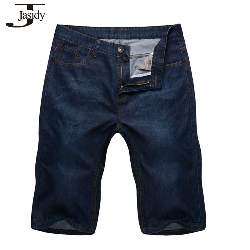 4a47095a3773b Get Quotations · 38-50 Plus Size Mens Jean Shorts Solid Straight Jeans Short  Men Hip Hop Pants