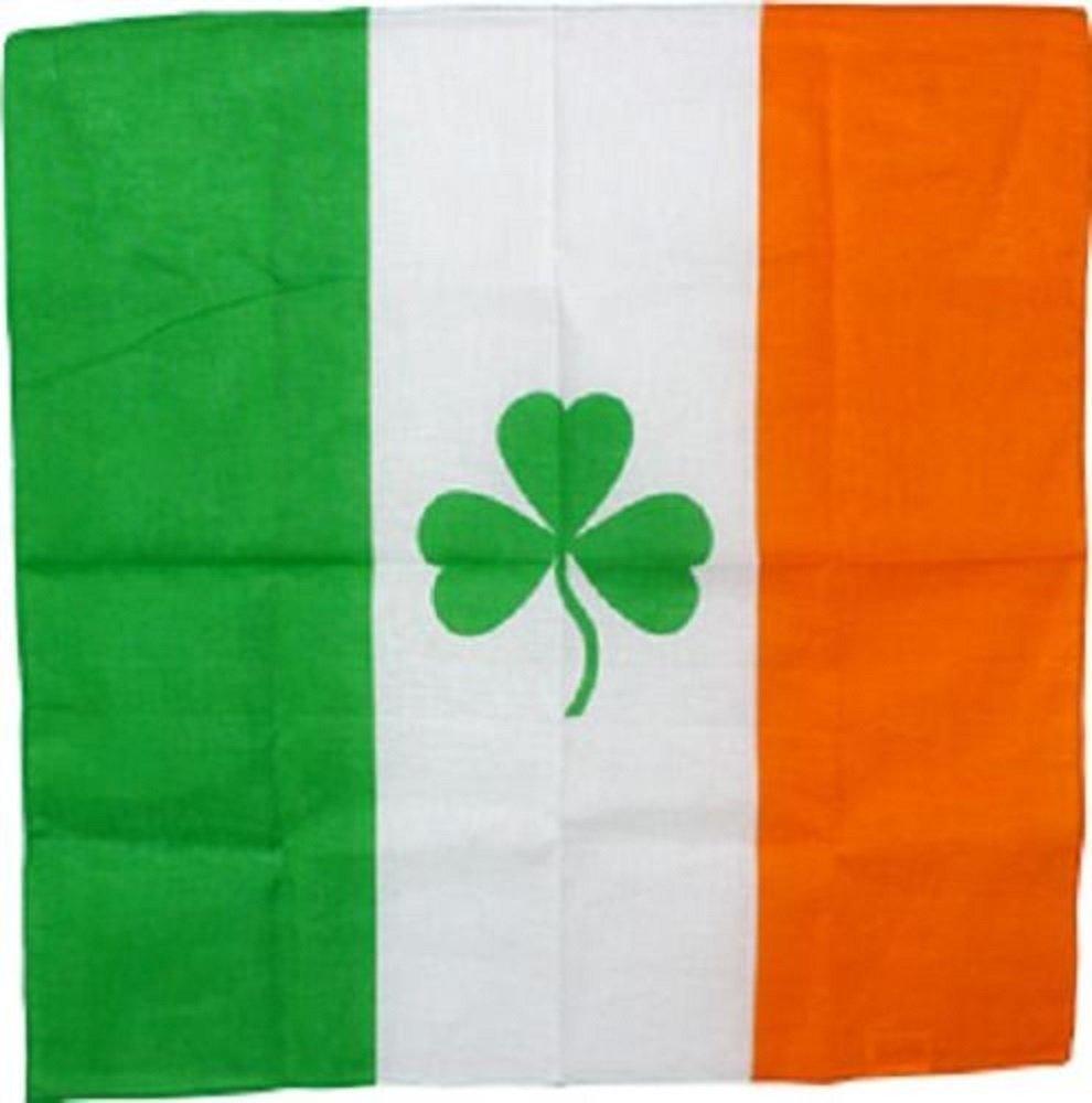 "Wholesale Lot 6 22""x22"" Ireland Irish Shamock Clover St Patrick's Day Bandana"