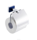 blue glass square toilet paper holder of bathroom paper roll holder