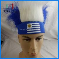 2018 colorful football nation hats crazy hair headband