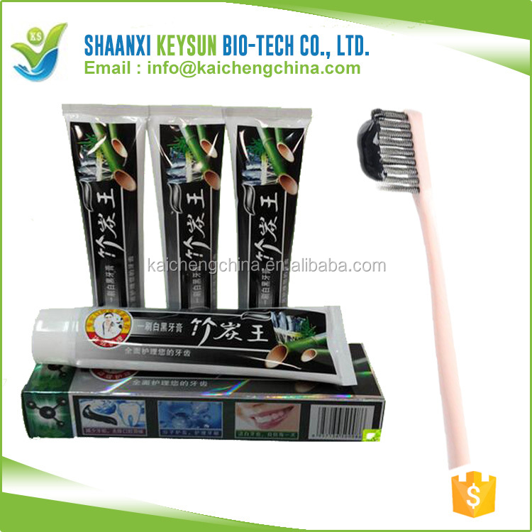 Private label 100% natural black bamboo charcoal teeth whitening toothpaste