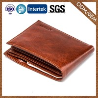 Factory Wholesale Customize Leather Fashion Designs Wallet Genuine Leather Brand