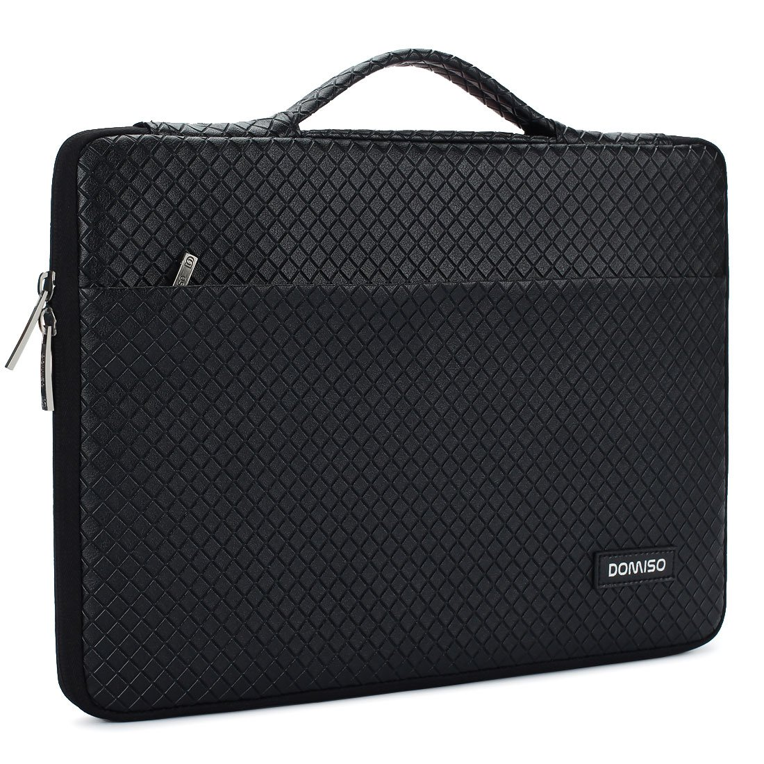 """DOMISO 15.6 Inch Waterproof Laptop Sleeve with Handle Portable Carrying Case for 15.6"""" Laptops/Apple/Lenovo IdeaPad/Acer Aspire E15/HP ENVY 15/Dell/ASUS, Bright Black"""