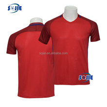 2016 european cup football shirts thailand quality red soccer jersey