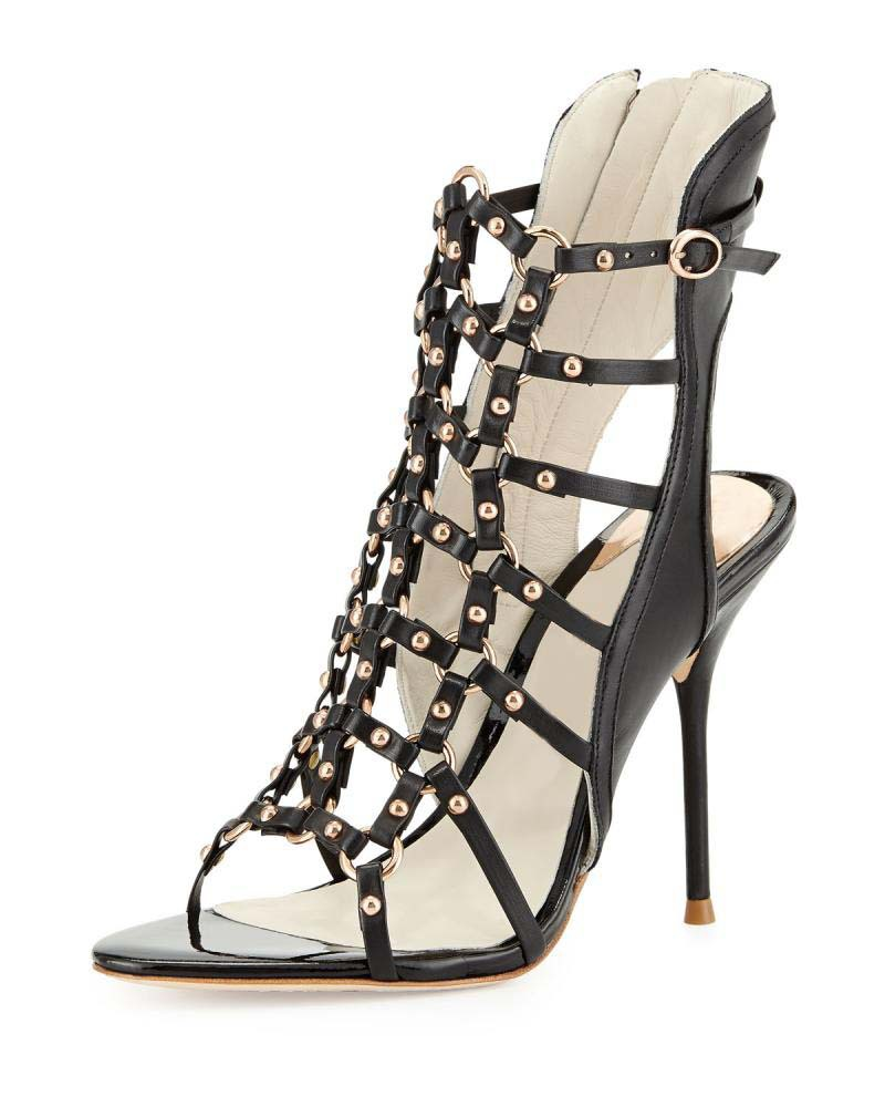 Get Quotations · Sexy Black Gold Chains Gladiator Sandals Women Pumps 2015 Open  Toe Summer Sandals Heels Booties Fashion 86a332a4365f