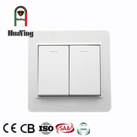 Modern light wall switch 2 gang 1 2 way for home two gang switches electric
