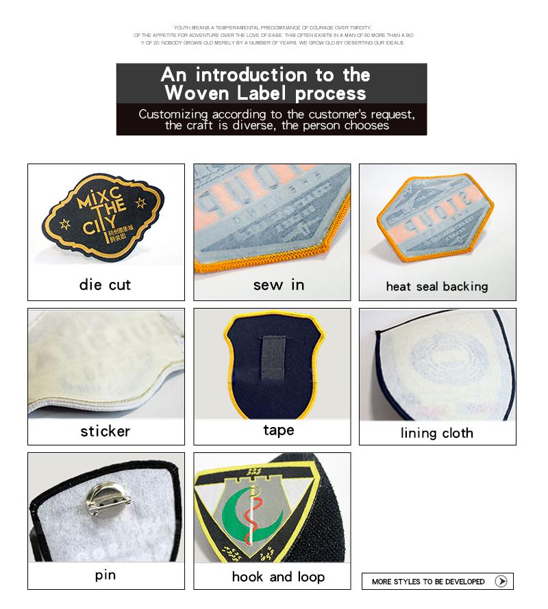 Cheap Clothing Custom Woven Damask Clothing Label