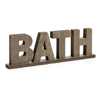 Rustic Vintage Free Standing Bath Wooden Words Sign