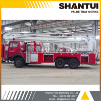Aerial platform fire fighting truck for high buildings