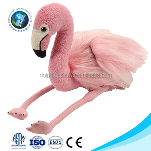 CE Certification Custom Cute Pretty Pink stuffed soft animal plush flamingo toy