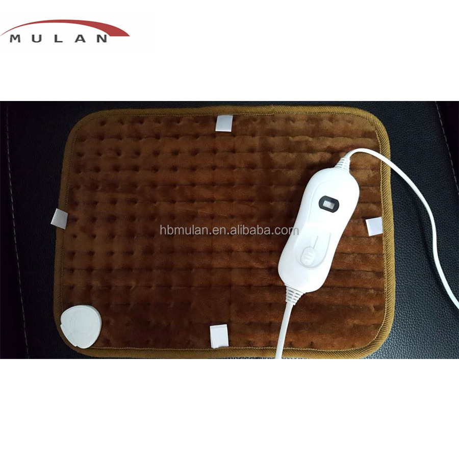 Micro-fibre cover medical electric heating pad, knee heating pad with adjust temperature