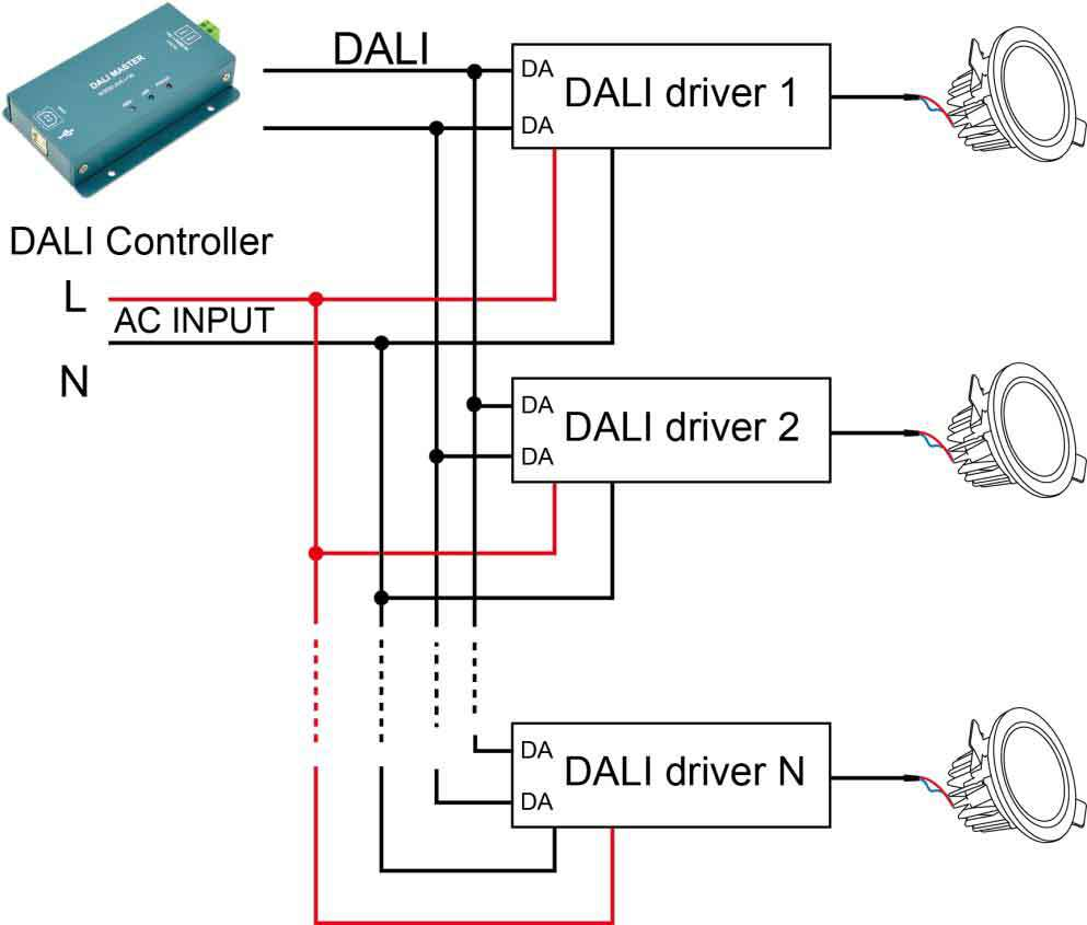 500ma Dali Dimmer Constant Current
