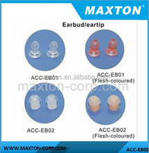 Replacement ear buds/ eartips for acoustic tube earpiece accessories