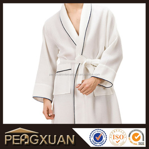 Mens And Womens Terry Lined Microfiber Luxury Spa Robe With Embroidery Logo