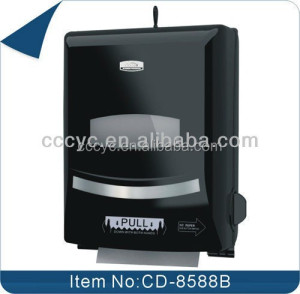 China factory ABS plastic public place auto cut roll paper towel dispenser for toilet CD-8588B