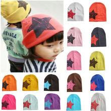 2016 Spring Summer Unisex Newborn Baby Boy Girl Toddler Infant Cotton Knitting Stars Hat Cap Beanie