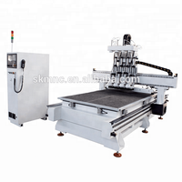 SKMNC Jinan popular Wood router machine carving cnc carved panel mdf cnc 9kw atc 1325