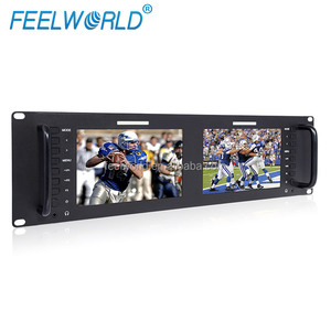Feelworld Professional 4RU 7 inch rack mount video monitor with Peaking Filter
